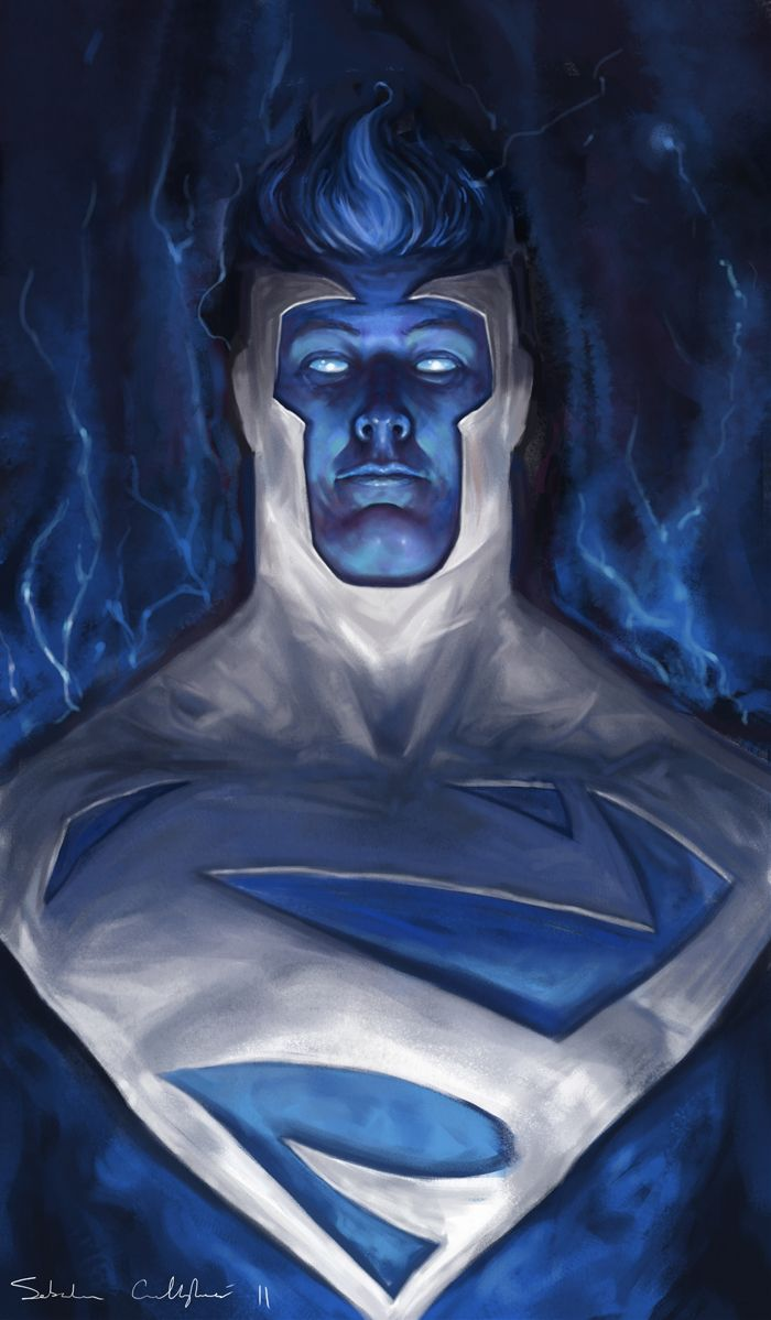Electric Blue Superman(im not even a fan of superman but, this is way cool!!!)