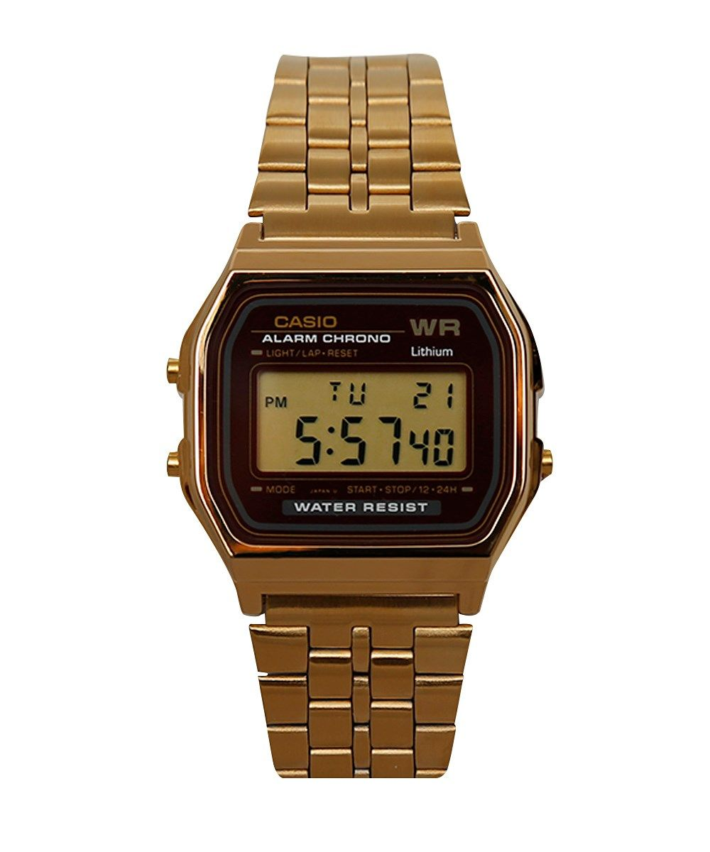 f9577fdc2d Relógio Digital Casio em Aço Dourado - cea