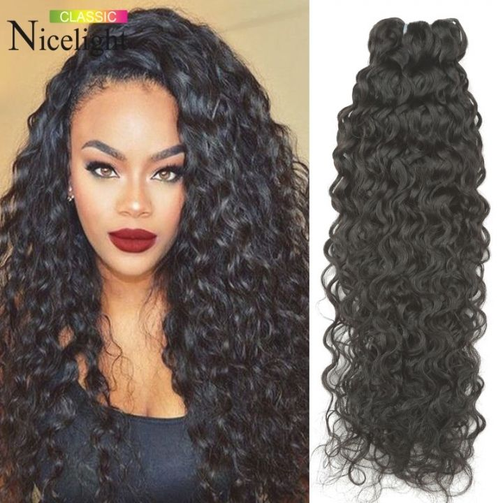 Crochet braids with wavy hair