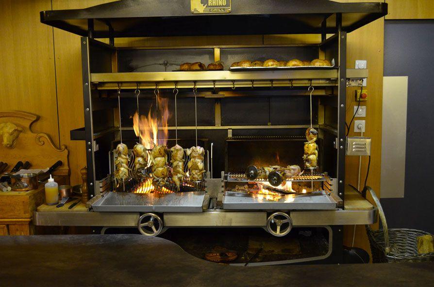 barbecue tournebroche rhino grill 1200 haut de gamme. Black Bedroom Furniture Sets. Home Design Ideas