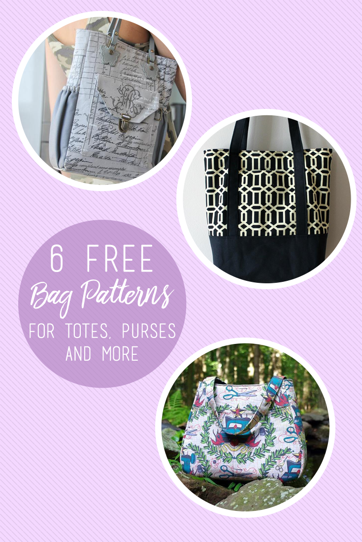 6 free bag sewing patterns youll love totes purses and more 6 free bag sewing patterns youll love totes purses and more jeuxipadfo Image collections
