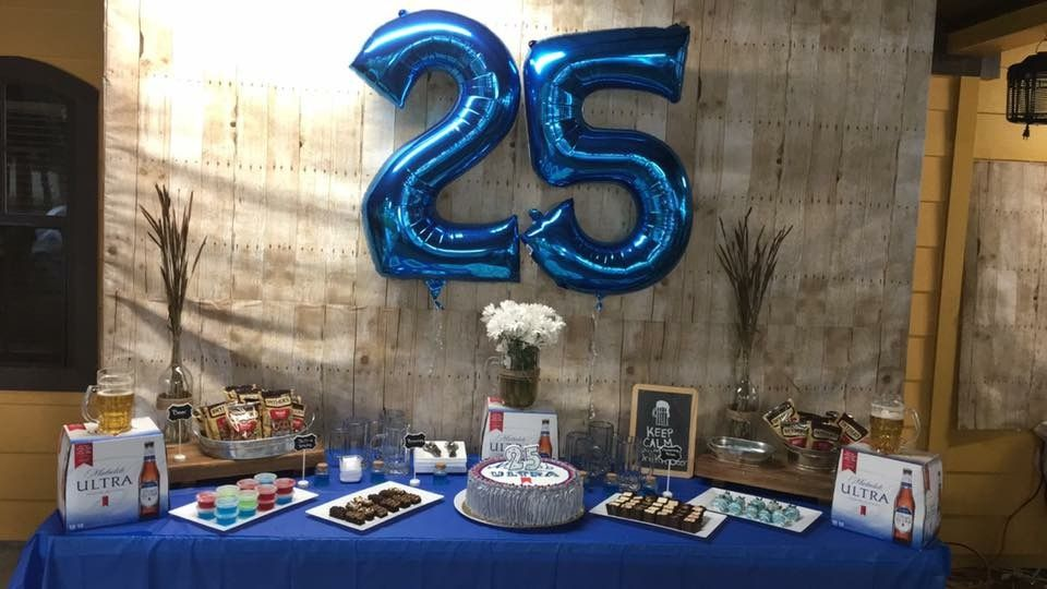 Michelob Ultra Birthday Theme Main Table Birthday Party