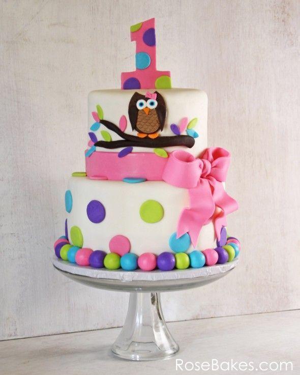 girls 1st birthday cake Party ideas Pinterest Birthday cakes