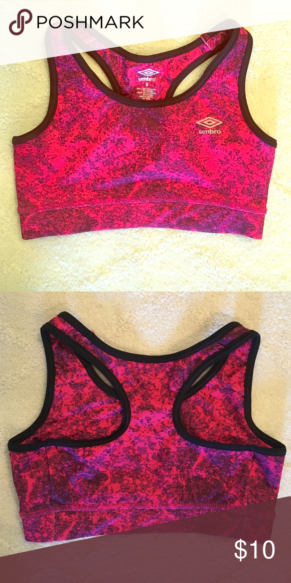 45a1304a438c4 NWOT Umbro Sports Bra Pink and black sports bra. No padding. Never washed  or worn. Umbro Intimates   Sleepwear Bras