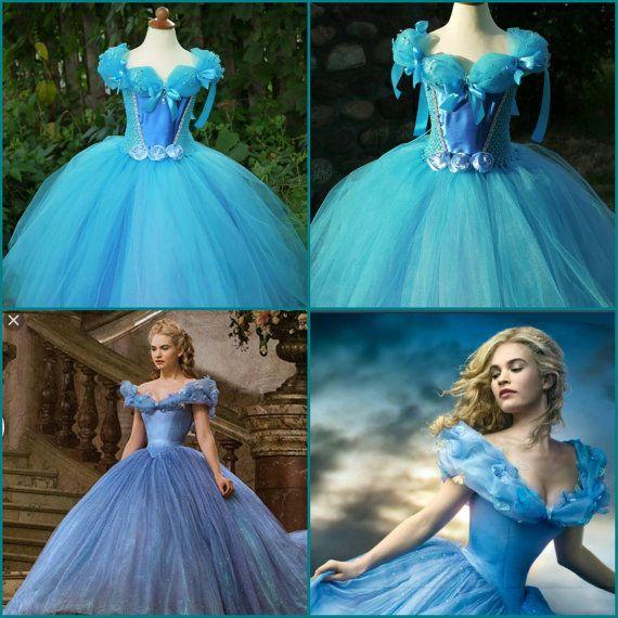 Cinderella tutu dress, Cinderella movie 2015 ballgown dress, Cinderella costume dress, Ella dress, princess Cinderella dress, Cinderella