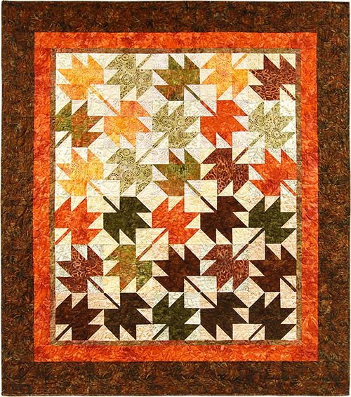 Fall Leaves Quilt Kit From The Pine Needle Quilt Shop Out Of Stock Quilts Quilt Shop Quilt Kits