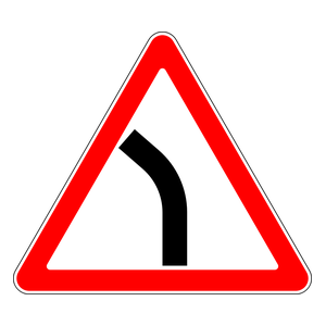 Warning For Curve To The Left