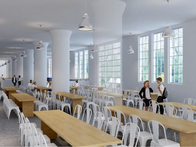 Heritage Adaptive Reuse Avenues The World School Dining Hall  All Enchanting School Dining Room Review