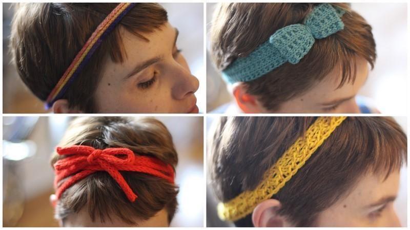 A Quartet Of Headbands Crafts Pinterest Knitting Knitting