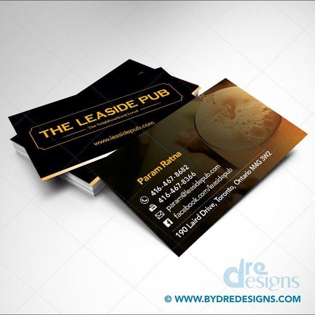 Business Card Design Print For The Leaside Pub Business Card Design Freelance Graphic Design Card Design