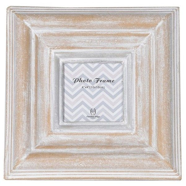 Square Washed Wooden Frame ($12) ❤ liked on Polyvore featuring home ...