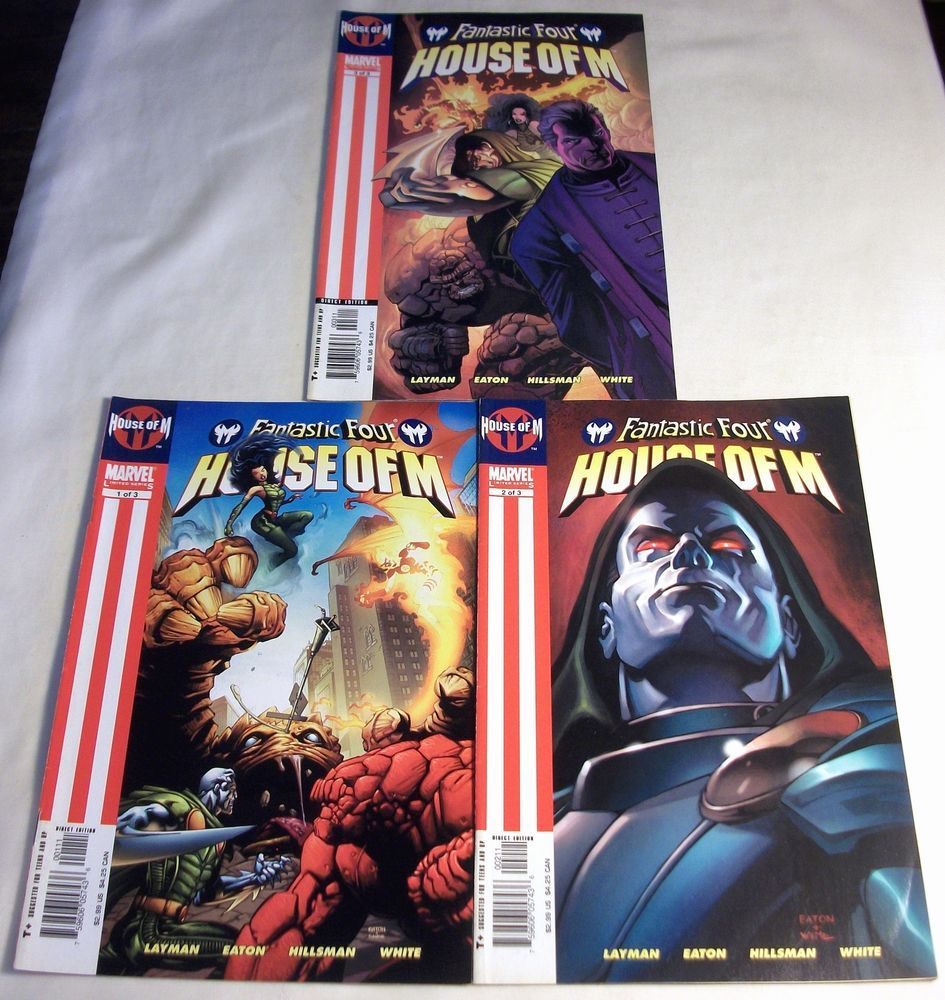 Fantastic Four House Of M Complete Series Lot 1 2 3 X Men Scarlet Witch Magneto Fantastic Four Marvel House Of M Marvel