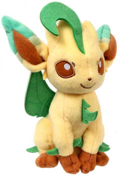 Pokemon XY Evolutions Leafeon 8-Inch Plush | Jason | Pokemon