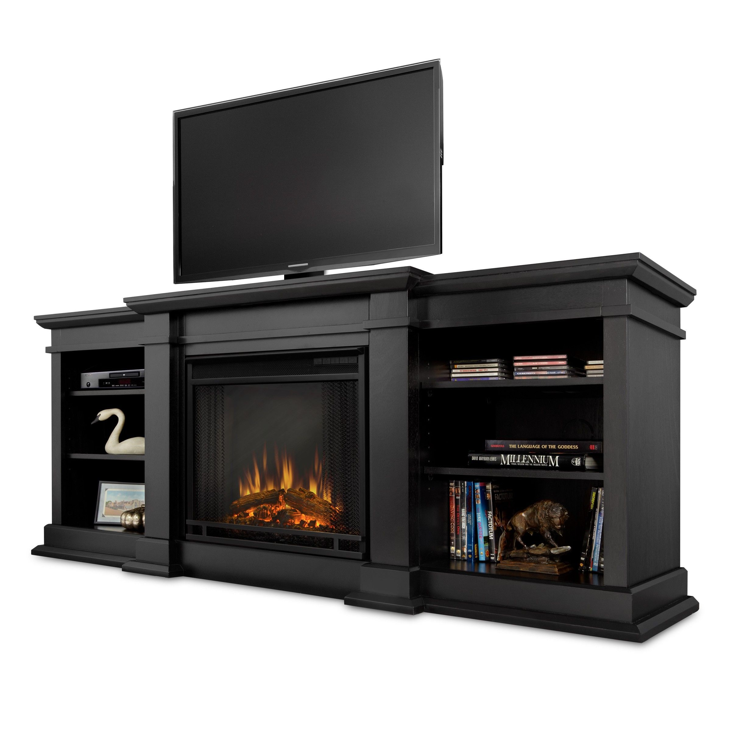 Real Flame Black Fresno Electric Entertainment Center This Will Be