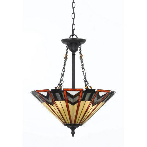 Portfolio 3 Light Craftsman Bronze Island With Tiffany Style Gl Shade