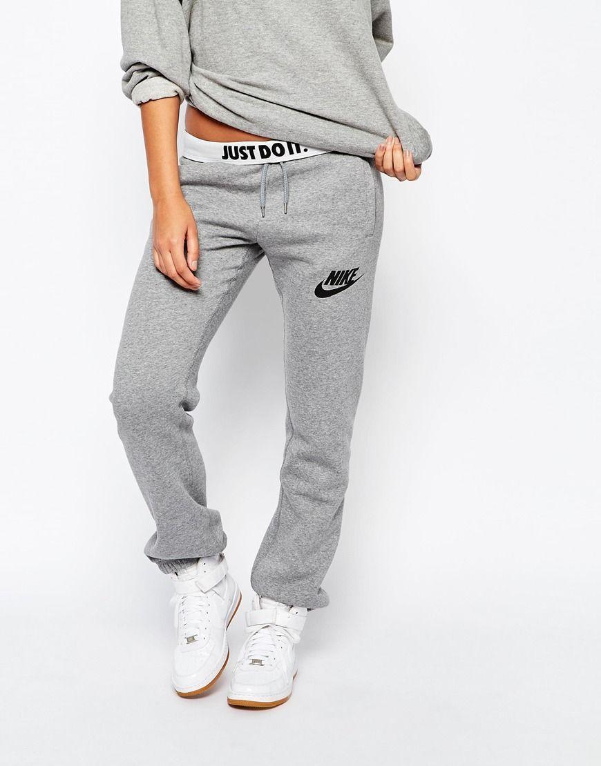 Image 4 of Nike Rally Baggy Sweat Pants With Logo Waist Band