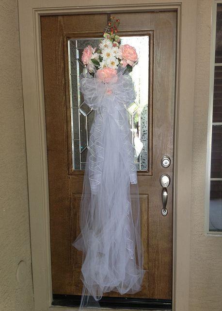wedding door decorations sitepinterest.com | Bridal Shower Front Door Decoration | Wedding & wedding door decorations site:pinterest.com | Bridal Shower Front ...