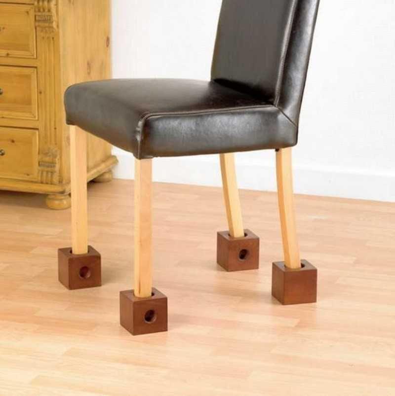rehausseurs de chaise en bois lot de 4
