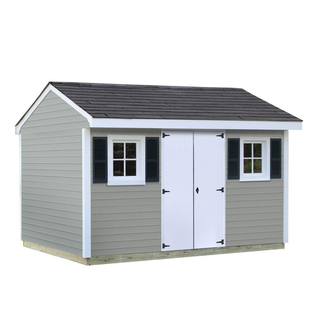 Sheds Usa Installed Classic 8 Ft X 12 Ft Vinyl Shed Browns Tans Vinyl Sheds Shed Homes Sheds Usa