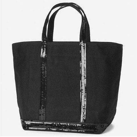 sac vanessa bruno moyen toile et paillettes noir pas cher vaessa bruno pinterest sac. Black Bedroom Furniture Sets. Home Design Ideas