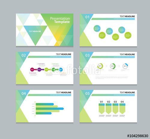 Vector abstract business template presentation slide background - powerpoint calendar template