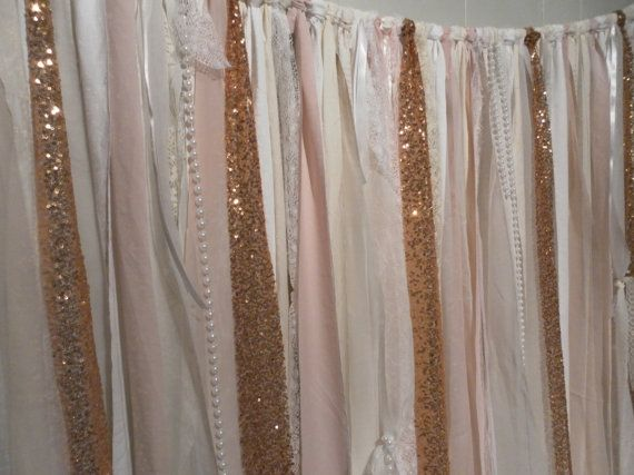 Gold Sequin Garland Backdrop Photo Session White by ChangesByNeci, $79.00
