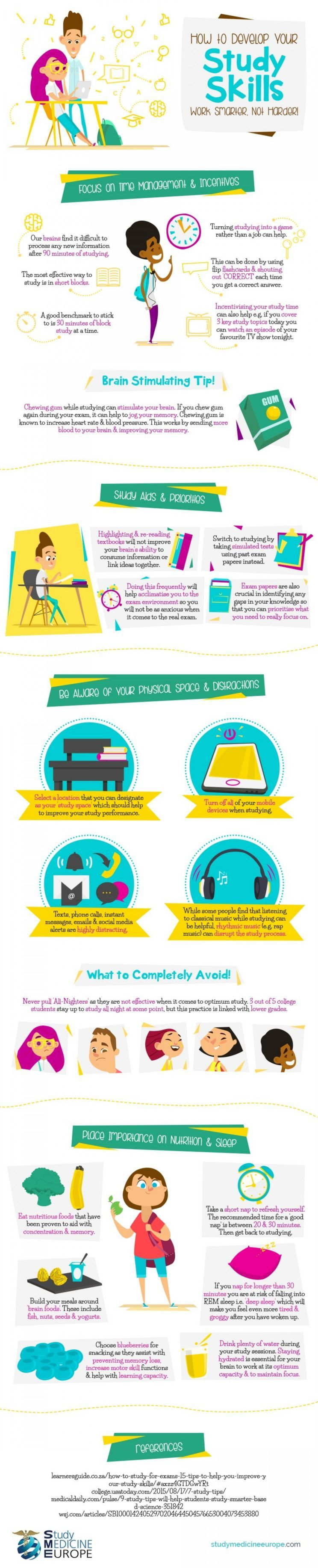 How To Develop Your Study Skills #Infographic