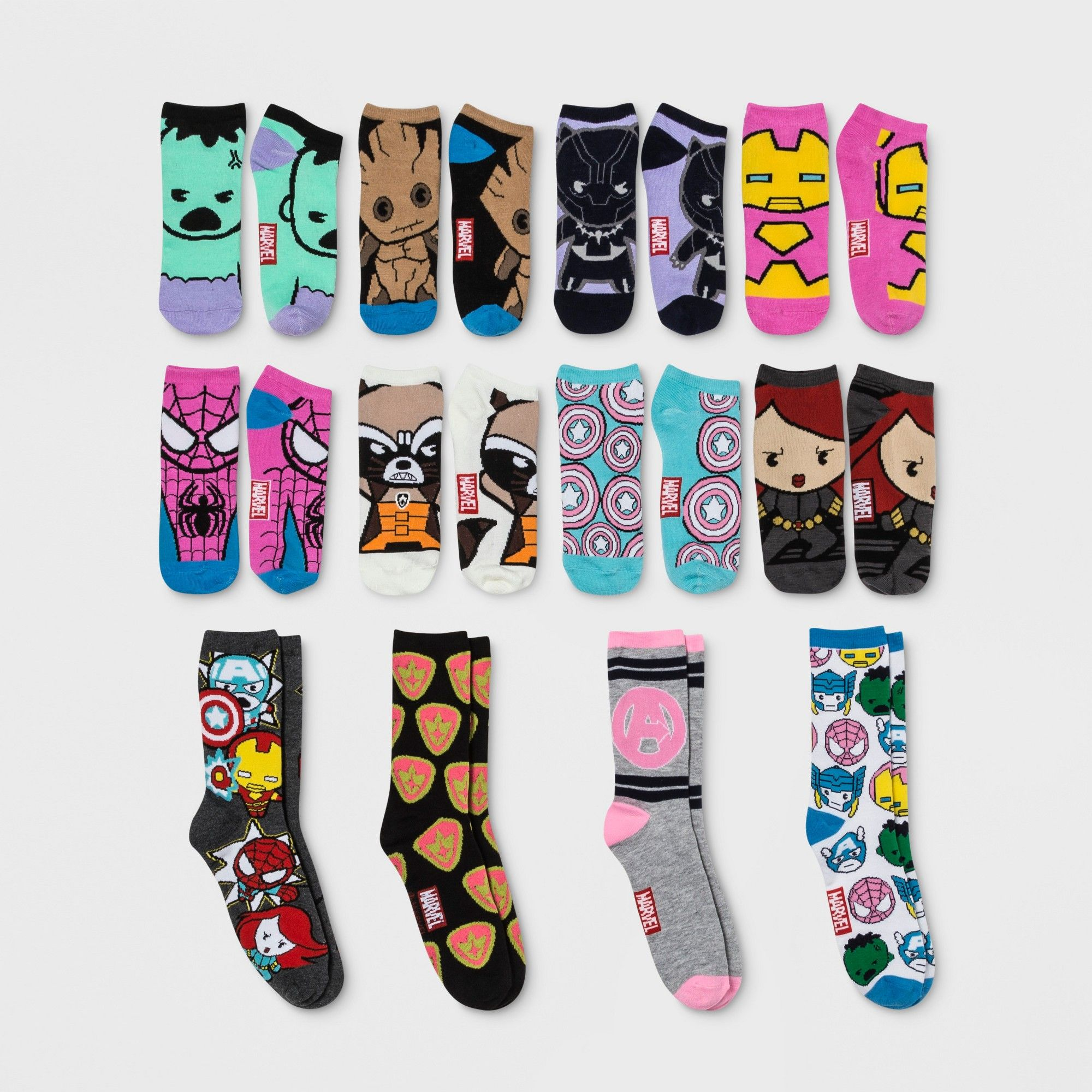 c22896053cf40 Women's Marvel 12 Days of Socks - Colors May Vary 4-10, Multi-Colored