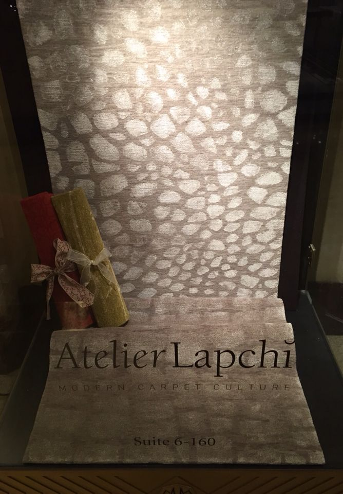 Atelier Lapchi Chicago I Pelage runner handwoven Tibetan wool & silk I kiosk display I 2014 Collection