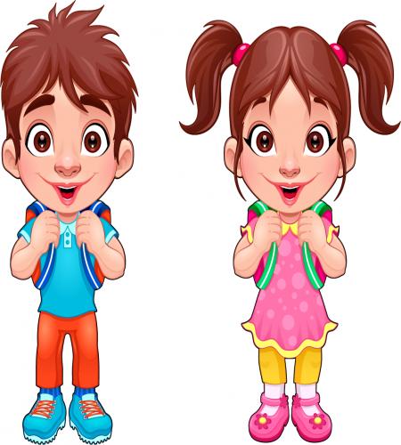 تصاميم اطفال مرسومه ولد وبنت رائعه ملف مفتوح Boy And Girl Cartoon Cartoon Boy Student Cartoon