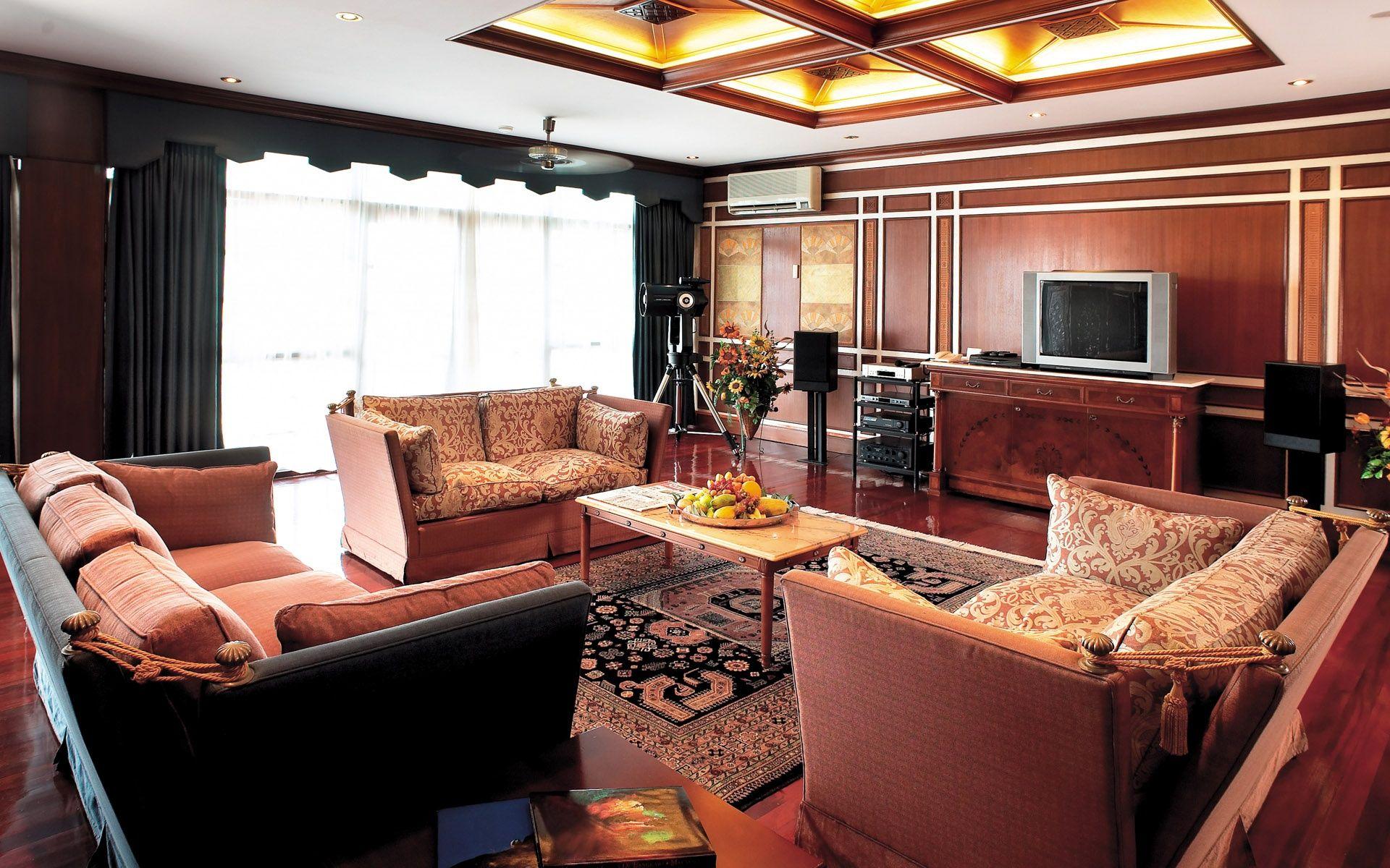 Beautiful Living Room Wallpaper DB Family RoomMedia Room