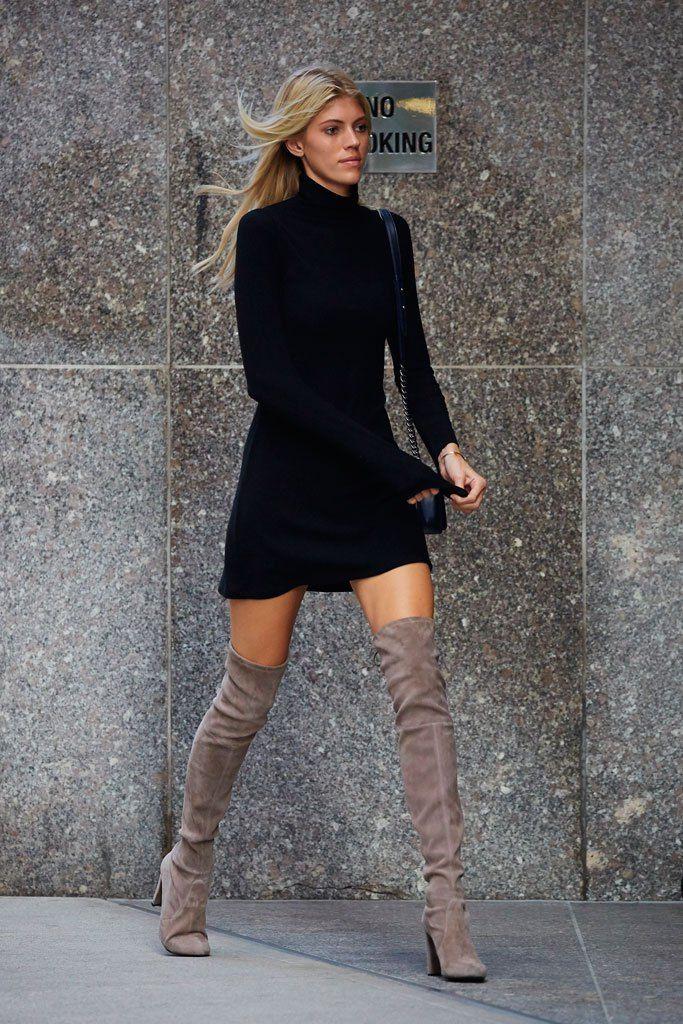261eab53fb275 Devon Windsor Victoria's Secret Stuart Weitzman. Devon Windsor Victoria's  Secret Stuart Weitzman Beige Boots, Brown Boots Black Dress, Thigh High