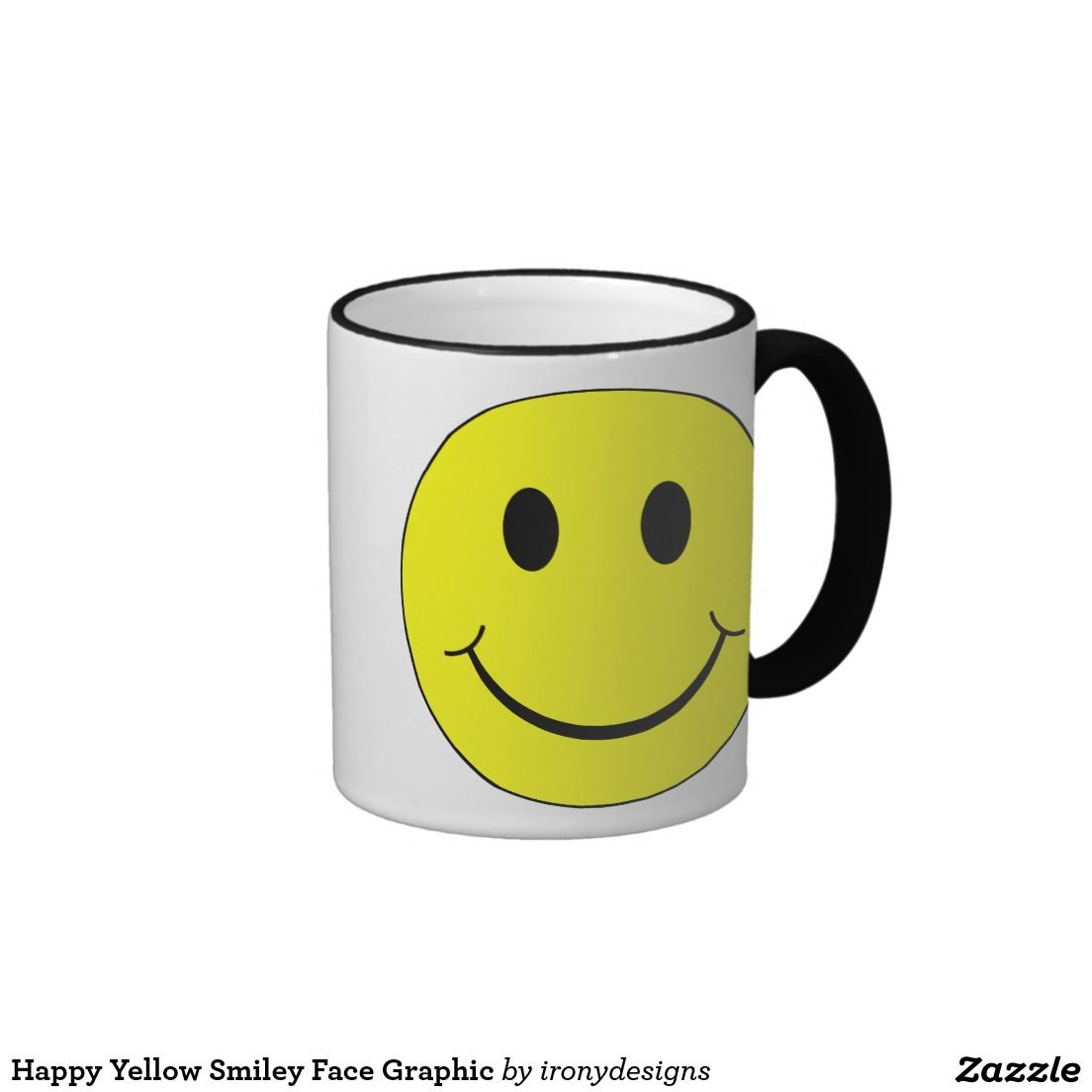 Smiley Face Coffee Mug Happy Yellow Smiley Face Graphic Mug Smiley Faces Graphics And