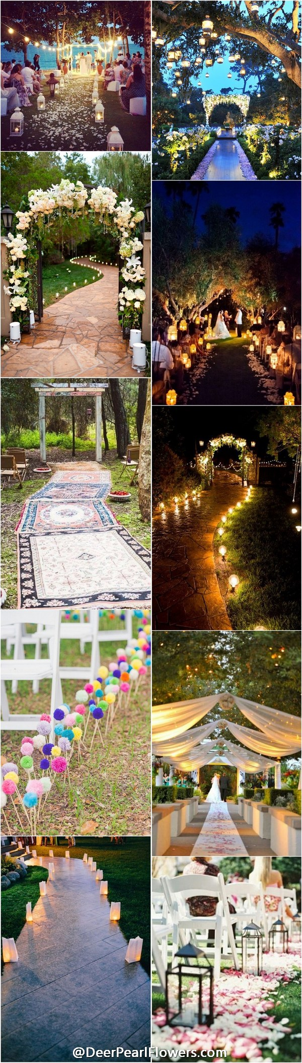 Wedding entry decoration ideas   Creative Wedding Entrance Walkway Decor Ideas  Pinterest