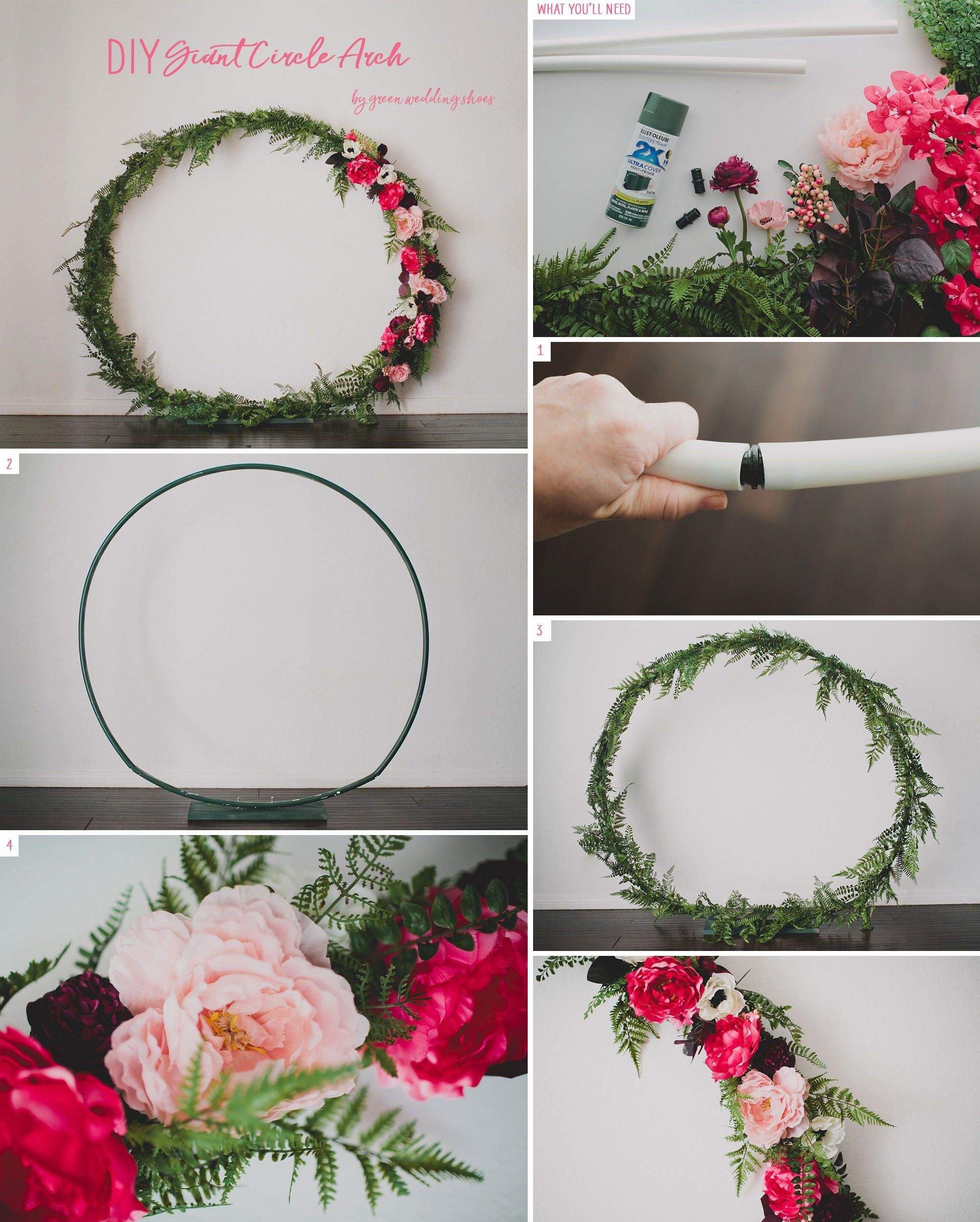 Wedding Arbor Circle: Diy Wedding Backdrop, Diy Wedding