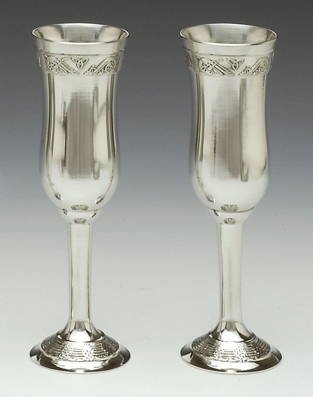 Wedding Champagne Flutes | Irish Wedding Gift - Celtic Champagne ...