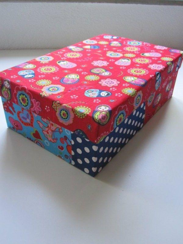 Iets Nieuws Creaief: Kartonnen doos bekleden met stof | Zelf maken | Pinterest #FQ87