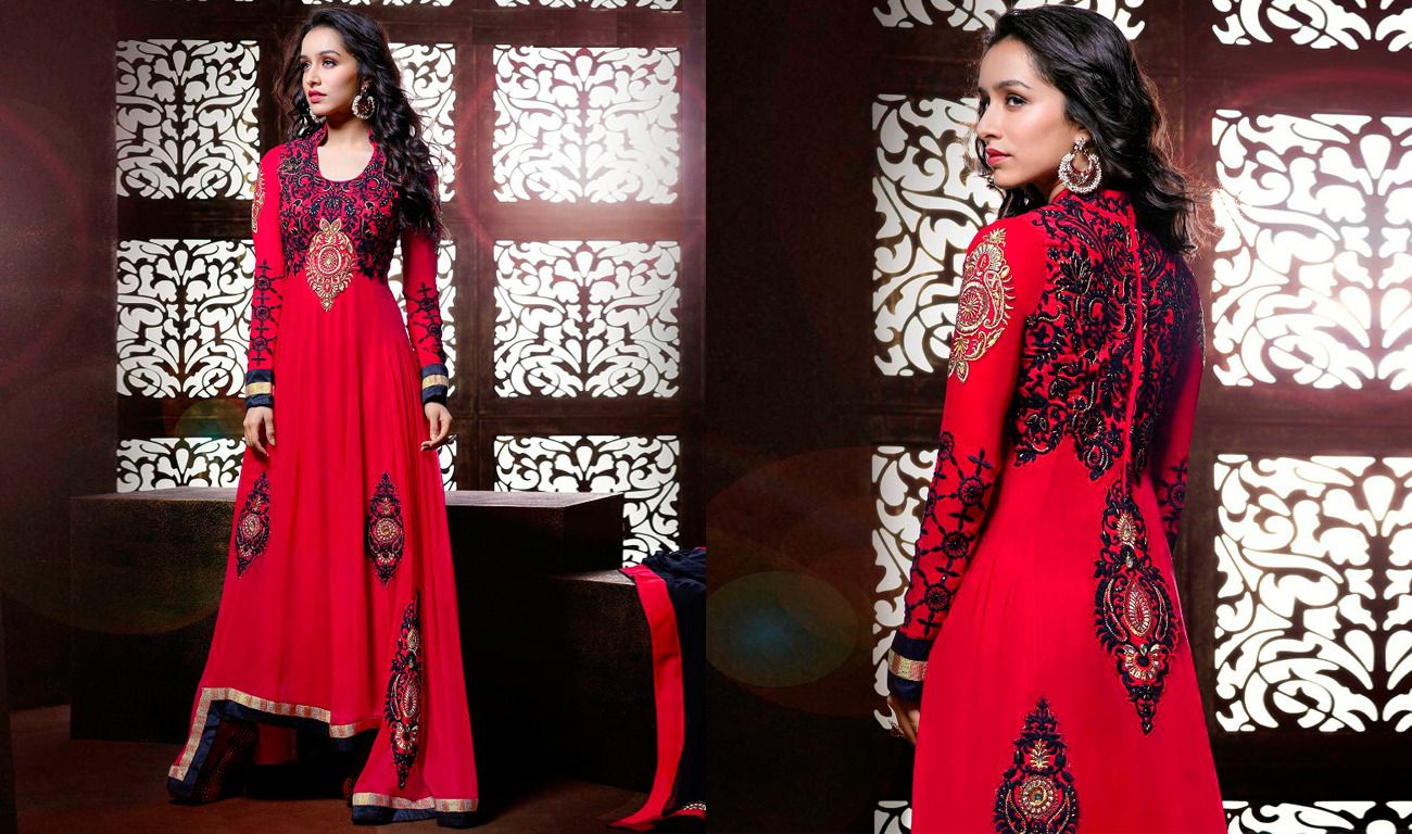 Shop online from the exclusive collection of Shraddha Kapoor Anarkali suits. Get #Festive special Discount offer Prefer this link To shop :-  http://www.shoppers99.com/festive_sale/shraddha_kapoor_stylish_long_anarkali_suits