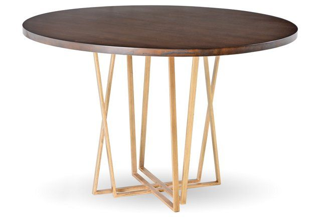 Crosby Dining Table Brass Maple Luxury Dining Tables Dining