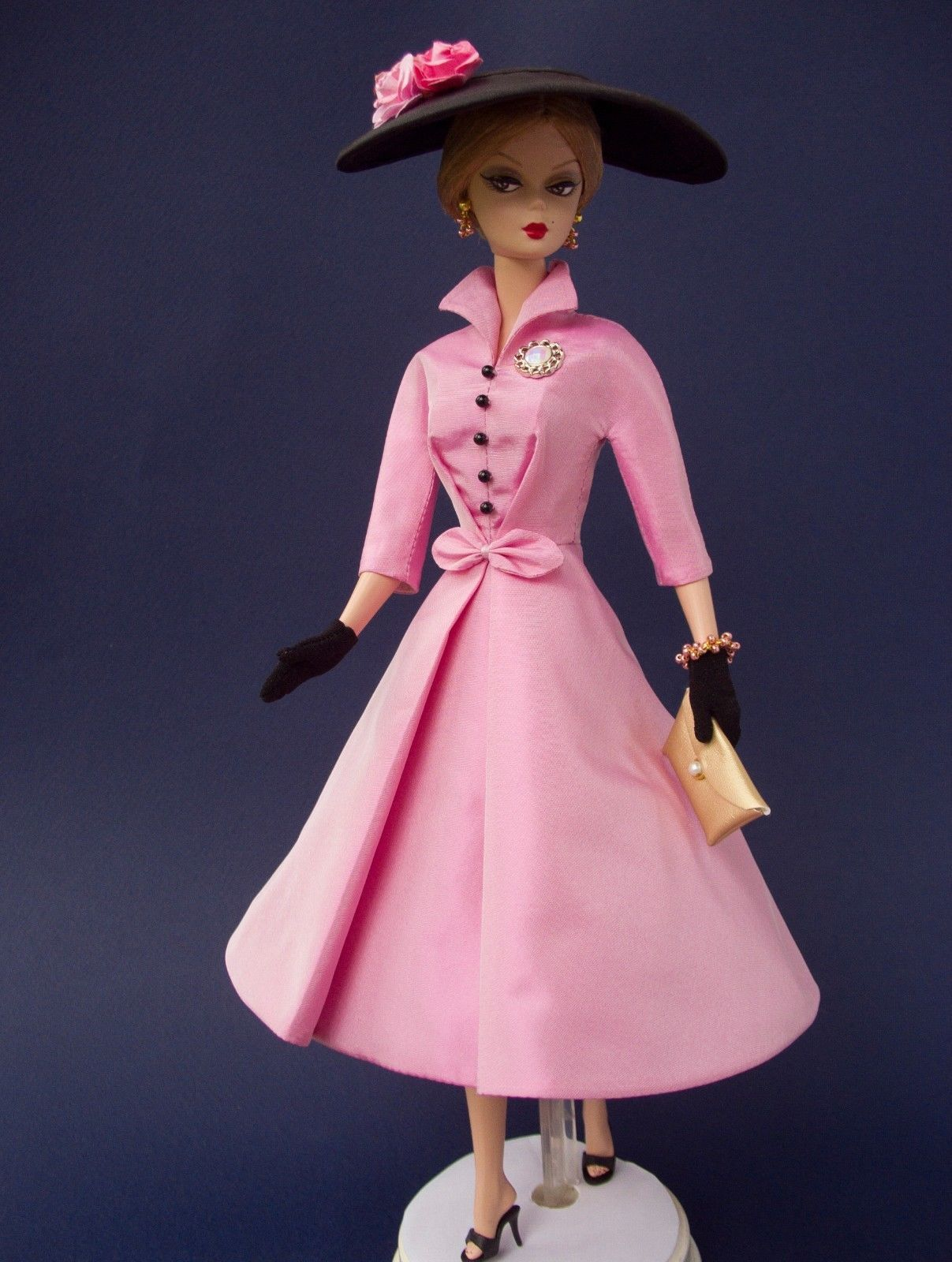 Ooak Outfit Made For Vintage Silkstone Barbie By D B Handmade One Of A Kind Ebay Barbie Pink Dress Barbie Clothes Doll Clothes Barbie