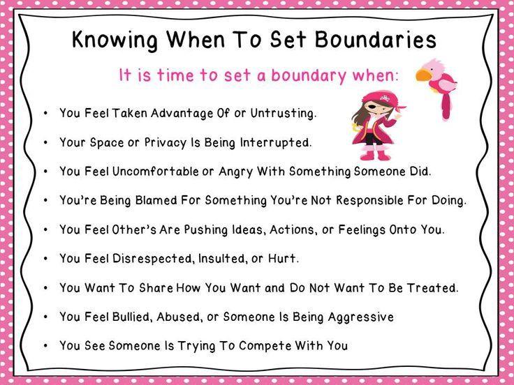 Friendship boundaries