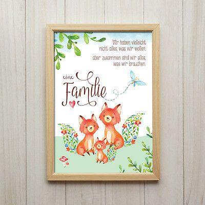 Finden Sie TopAngebote für Fuchs Familie Kunstdruck DIN