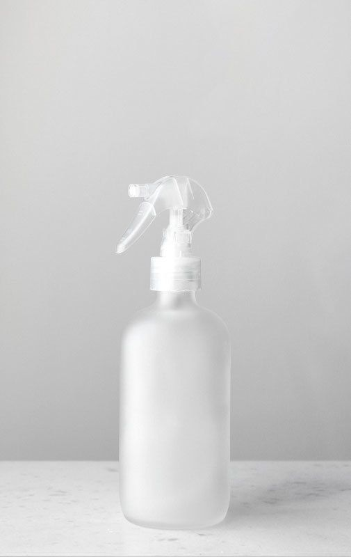 Our Frosted Glass Mist Bottle With Clear Bpa Free Fine Mister
