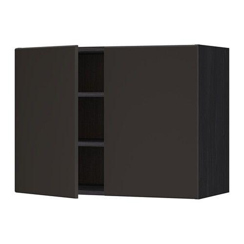 METOD Wandschrank mit Böden und 2 Türen, weiß, Häggeby weiß