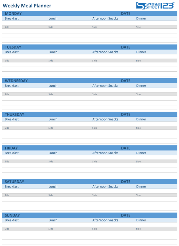 This Meal Planner Template Has Derived From The Similar Template
