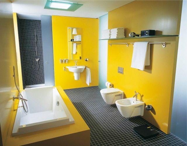 Inspiration : une salle de bains jaune | Salle de bains ...