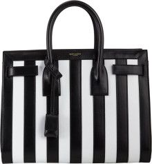 5238515afe4 Saint Laurent Striped Small Sac De Jour - Lyst | _//_ It's in the ...