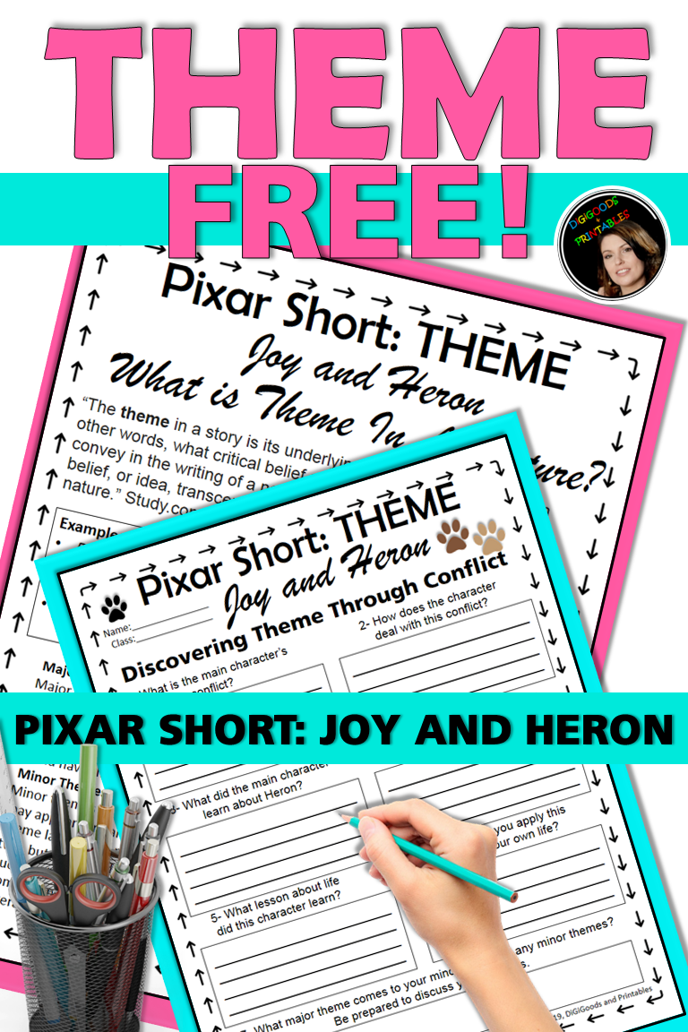 Pixar Short Film Theme Distance Learning Teaching Themes Teaching Literary Elements Pixar Shorts