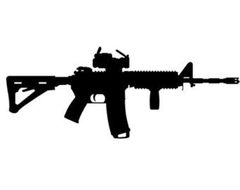 AK47 Decal Window Bumper Sticker Car Gun Rights Second Amendment Love America AK