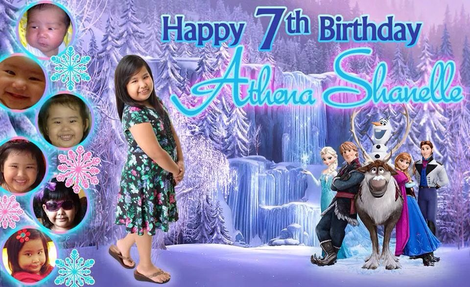 7th Birthday Frozen Themed Tarpaulin Birthday Tarpaulin Design